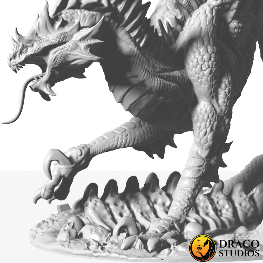 Sivax Render with Senic Base on white background with Draco Studios Logo Zoom