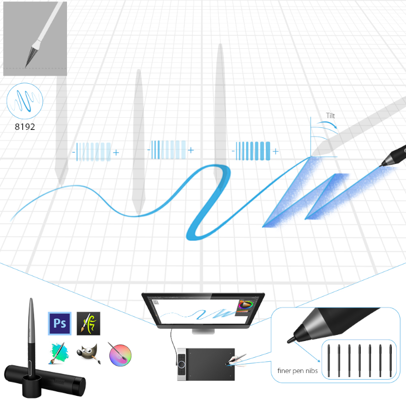XP-Pen-deco-pro graphic with drawing examples